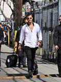 Chris Hemsworth en el estudio de Kimmel Imagen de archivo libre de regalías