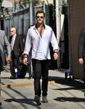 Chris Hemsworth en el estudio de Kimmel Foto de archivo libre de regalías