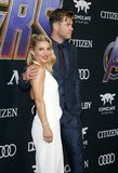 Chris Hemsworth et Elsa Pataky image libre de droits