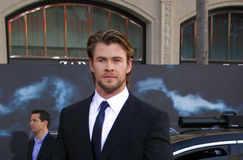 Chris Hemsworth. At the Los Angeles premiere of 'Thor' held at the El Capitan Theater in Hollywood, USA on May 5, 2011 royalty free stock photo