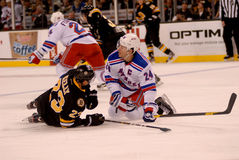 Chris Kelly and Ryan Callahan collide NHL Hockey Stock Photography