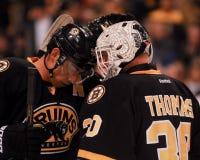 Chris Kelly and Tim Thomas, Boston Bruins Royalty Free Stock Image