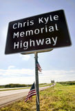 Chris Kyle Memorial Highway foto de archivo libre de regalías