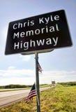 Chris Kyle Memorial Highway. Midlothian, Texas - Aug.28,2016 Chris Kyle Memorial Hwy part of Hwy 287 in Midlothian ,Texas opened in 2016. Chris Kyle was the royalty free stock photo