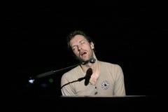 Chris Martin de groupe de rock Coldplay Image libre de droits