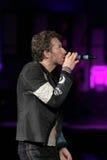 Chris Martin de la banda de rock Coldplay foto de archivo