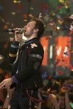Chris Martin van popgroep Coldplay Stock Afbeeldingen