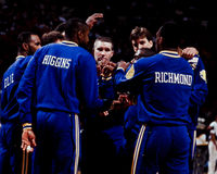 Chris Mullin and Mitch Richmond, Golden State Warriors Stock Image