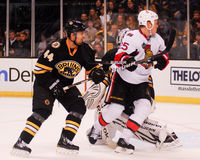 Chris Neil and Dennis Seidenberg. Royalty Free Stock Image