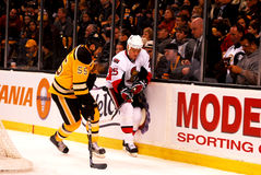 Chris Neil and Johnny Boychuk (NHL Hockey) Stock Photography