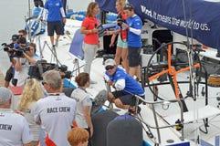 Chris Nicholson On Vestas - Famous Round The World Sailing Yacht racing Skipper Stock Photography