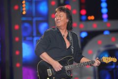 Chris Norman from group Smokie playing guitar Royalty Free Stock Photo