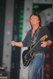 Chris Norman sings on scene Stock Image