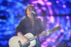 Chris-Normanne von der Gruppe Smokie singt Lizenzfreies Stockfoto