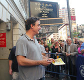 Chris noth on broadway. Chris noth holding the playbill of the Royalty Free Stock Images