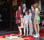 Chris O'Donnell & family Royalty Free Stock Photography