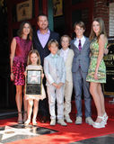 Chris O'Donnell & family Stock Photo