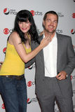 Chris O'Donnell,Pauley Perrette. Pauley Perrette &Chris O'Donnell arriving at the CBS Fall Preveiw Party My House  Club Los Angeles, CA September 16, 2009 Royalty Free Stock Photography