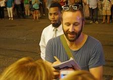 Chris ODowd teckenautografer Fotografering för Bildbyråer