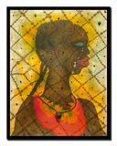 "Chris Ofili picture titled ""No Woman, No Cry"" Stock Photography"