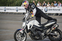 Chris-pfeiffer auf bmw f 800r Stockfoto
