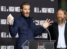 Chris Pine and David Mackenzie Royalty Free Stock Photos