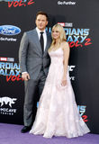 Chris Pratt and Anna Faris. At the Los Angeles premiere of `Guardians Of The Galaxy Vol. 2` held at the Dolby Theatre in Hollywood, USA on April 19, 2017 Stock Photography