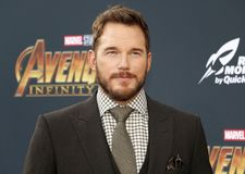 Chris Pratt. At the premiere of Disney and Marvel`s `Avengers: Infinity War` held at the El Capitan Theatre in Hollywood, USA on April 23, 2018 Stock Photography