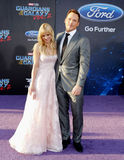 Chris Pratt och Anna Faris Royaltyfria Bilder