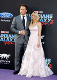 Chris Pratt och Anna Faris Royaltyfria Foton