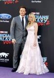 Chris Pratt och Anna Faris Arkivbild