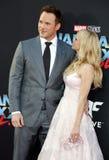 Chris Pratt och Anna Faris Royaltyfria Foton