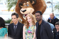 Chris Rock and Jessica Chastain, Ben Stiller Stock Image