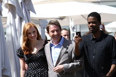 Chris Rock and Martin Short, Jessica Chastain Royalty Free Stock Photography