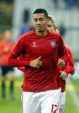 Chris Smalling Champion League FC Bruges - Manchester United Fotografie Stock