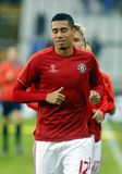 Chris Smalling Champion League FC Bruges - Manchester United Stock Photos
