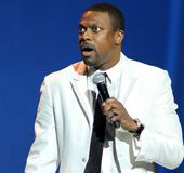 Chris Tucker performs stand up stock photography