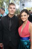 Chris Zylka, Lucy Hale at the 2012 MTV Movie Awards Arrivals, Gibson Amphitheater, Universal City, CA 06-03-12 Royalty Free Stock Image