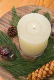 Chrismas装饰蜡烛 免版税库存照片