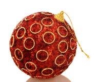 chrismas шарика яркие красные Стоковое фото RF