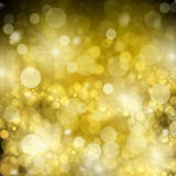 Chrismas background. With golden beams and sparkles Royalty Free Stock Images