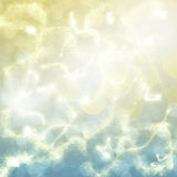 Chrismas background. Chrismas golden and blue festive background with  beams and sparkles Royalty Free Stock Photography