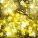 Chrismas background. Shining chrismas background with golden beams and sparkles royalty free illustration