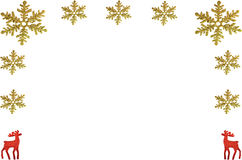 Chrismas background with snowflake and reindeer Royalty Free Stock Photography