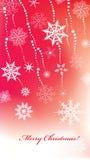 Chrismas background with snowlakes Stock Photo