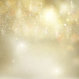 Chrismas background with sparkles. Chrismas festive golden and silver background with bright fire sparkles and lights Stock Photography