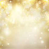 Chrismas background with sparkles. Chrismas golden and silver background with bright fire sparkles and lights Royalty Free Stock Images