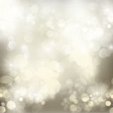 Chrismas  background with sparkles. Chrismas silver  background with bright  sparkles and lights Stock Photos