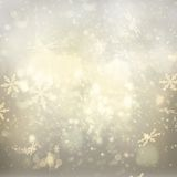 Chrismas  background with sparkles. Chrismas silver  background with bright  sparkles and snowflakes Royalty Free Stock Photos