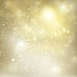 Chrismas  background with sparkles. Chrismas silver  and gold background with bright  sparkles and lights Stock Photography